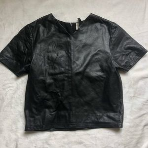TopShop Genuine Leather Top